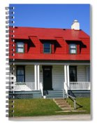 Keeper's House - Presque Isle Light Michigan Spiral Notebook