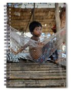 Keeping Cool In Cambodia Spiral Notebook