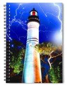 Key West Lightning Light House Spiral Notebook