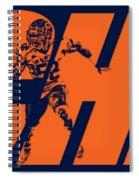 Khalil Mack Chicago Bears City Art Spiral Notebook