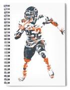 Khalil Mack Chicago Bears Pixel Art 1 Spiral Notebook