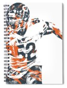 Khalil Mack Chicago Bears Pixel Art 30 Spiral Notebook