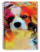 King Charles Spaniel On The Move Spiral Notebook