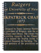 Kirkpatrick Chapel - Commemorative Plaque Spiral Notebook