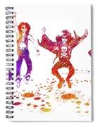 Kiss Band Watercolor Splatter 01 Spiral Notebook