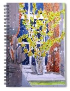 Kitchen Forsythia Spiral Notebook
