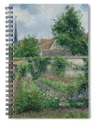 Kitchen Garden, Overcast Morning, Eragny, 1891  Spiral Notebook