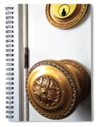 Knob And Lock Spiral Notebook