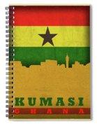 Kumasi Ghana World City Flag Skyline Spiral Notebook