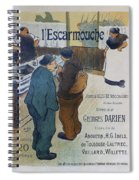 L Escarmouche, 1893 French Vintage Poster Spiral Notebook