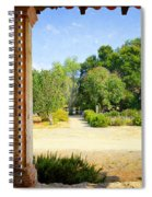La Purisima Mission Garden From The Arcade Spiral Notebook