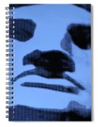 Lady Liberty In Cyan Spiral Notebook