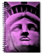 Lady Liberty In Pink Spiral Notebook