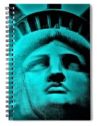 Lady Liberty In Turquoise Spiral Notebook