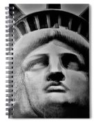 Lady Liberty Red White And Blue Spiral Notebook