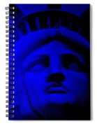 Lady Libery In Blue Spiral Notebook