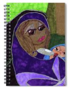 Lady With Child Spiral Notebook