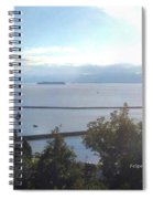 Lake Champlain Early Afternoon Sunshine Enhanced Spiral Notebook