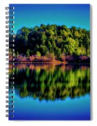 Lake Double Reflection Spiral Notebook