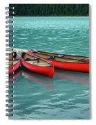 Lake Louise Canoes Spiral Notebook