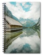 Lake Obersee Boat House Spiral Notebook