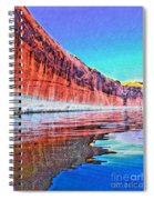 Lake Powell With Cliff Reflections Spiral Notebook