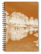 Lake Reflections In Brown Spiral Notebook