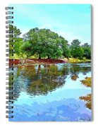 Lake Reflections On A Sunny Day Spiral Notebook