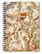 Landmarks And Postmarks Spiral Notebook