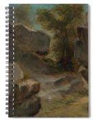 Landscape With Rocks  Augerville  Spiral Notebook