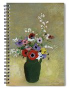Large Green Vase With Mixed Flowers, 1912 Spiral Notebook