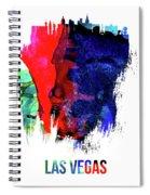 Las Vegas Skyline Brush Stroke Watercolor   Spiral Notebook