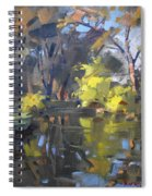 Last Suntouches In Ellicott Creek Park  Spiral Notebook