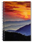 Laurens Sunset And Mountains Spiral Notebook