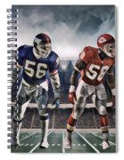 Lawrence Taylor New York Giants And Derrick Thomas Kansas City Chiefs Abstract Art 1 Spiral Notebook