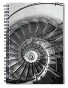 Lblack And White View Of Spiral Stairs Inside The Arch De Triump Spiral Notebook