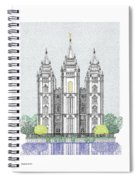 Lds Salt Lake Temple - Colorized Spiral Notebook