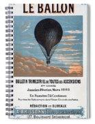 Le Ballon Aeronautical Journal, 1883 French Poster Spiral Notebook