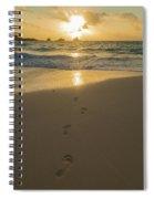 Leading To The Light Coastal Sunrise Spiral Notebook