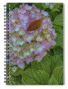 Leaf And Pink Spiral Notebook