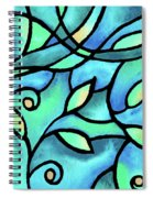 Leaves And Curves Art Nouveau Style II Spiral Notebook