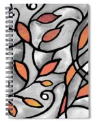 Leaves And Curves Art Nouveau Style Xii Spiral Notebook