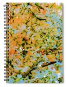 Leaves And Trees Spiral Notebook