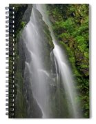 Lee Falls Close Up Spiral Notebook