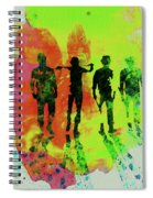 Legendary Clockwork Orange Watercolor Spiral Notebook