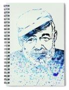 Legendary Hemingway Watercolor Spiral Notebook