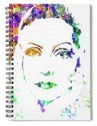 Legendary Ingrid Bergman Watercolor Spiral Notebook