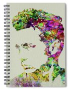 Legendary James Dean Watercolor Spiral Notebook
