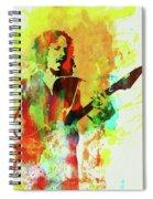 Legendary Kirk Hammett Watercolor Spiral Notebook