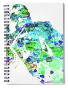 Legendary Louis Armstrong Watercolor  Spiral Notebook